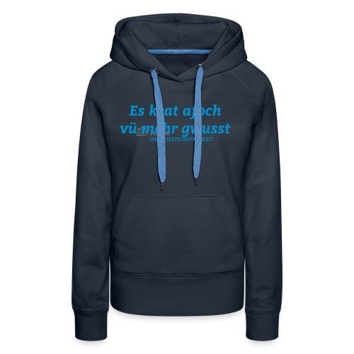 Logo Forum Informationsfreiheit - Frauen Premium Hoodie