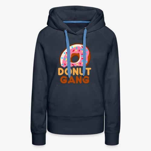 Donut Gang - Logo (med tekst) - Dame Premium hættetrøje