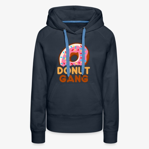Donut Gang - With Stroke - Dame Premium hættetrøje