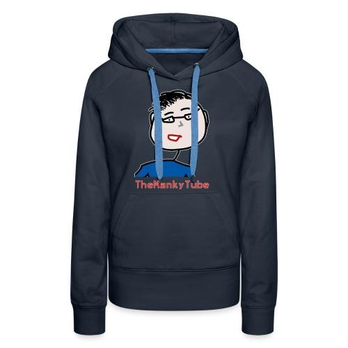 Shirt mit fragwürdig aussehendem Gesicht - Frauen Premium Hoodie