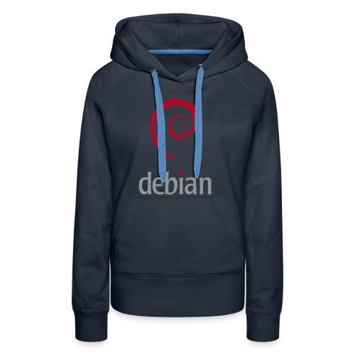 Debian - Sweat-shirt à capuche Premium pour femmes
