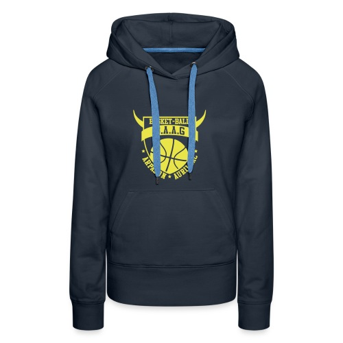 logo baag bleu vectoris spredshirt - Sweat-shirt à capuche Premium pour femmes
