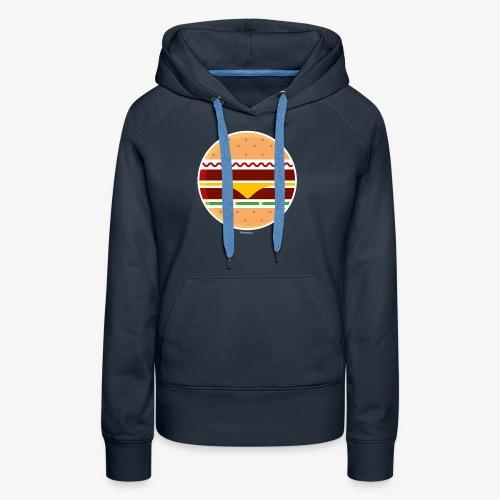 Circle Burger - Felpa con cappuccio premium da donna