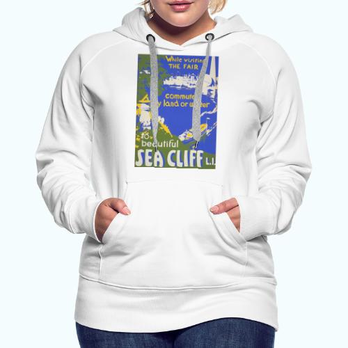 Lake travel vintage poster - Women's Premium Hoodie
