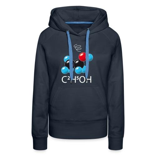 c2h5oh (sur Tshirts foncés) - Sweat-shirt à capuche Premium pour femmes