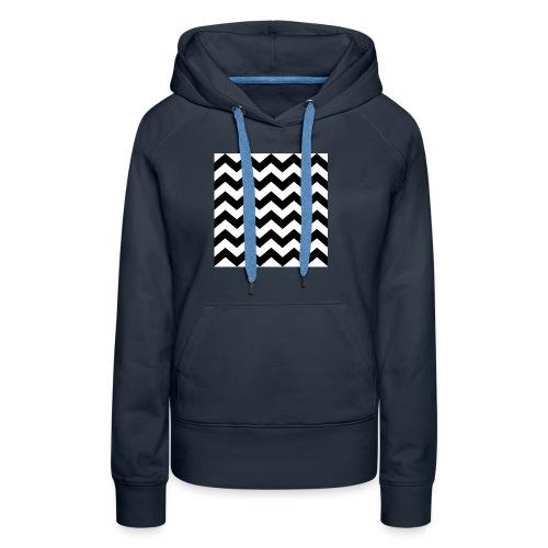 zigzag png - Sweat-shirt à capuche Premium pour femmes