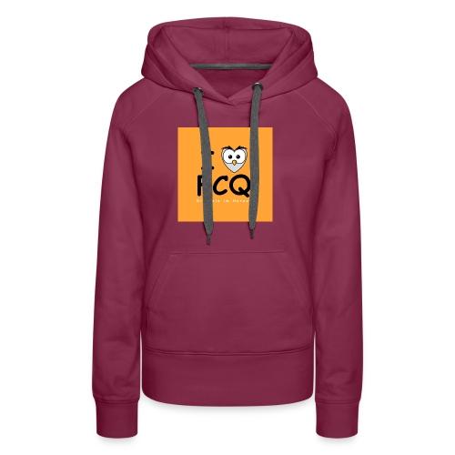 I Love FCQ button orange - Frauen Premium Hoodie