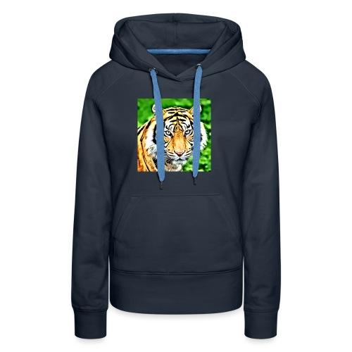 tigre - Felpa con cappuccio premium da donna