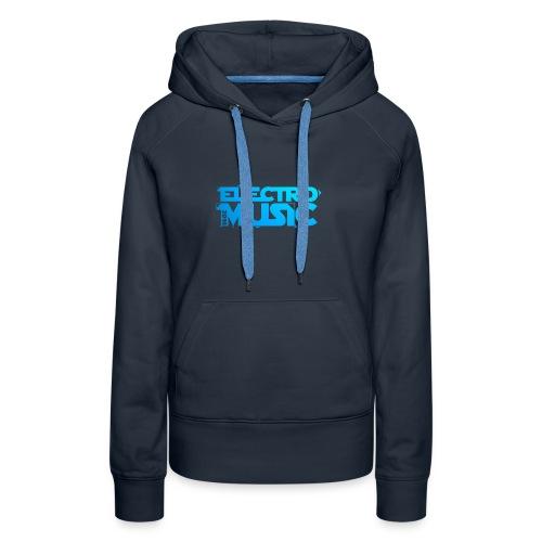T-Shirt Electro Music Homme - Sweat-shirt à capuche Premium pour femmes