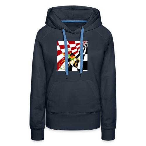 Spilla Flag - Felpa con cappuccio premium da donna