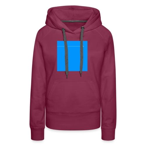 sklyline blue version - Sweat-shirt à capuche Premium pour femmes