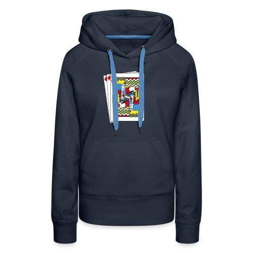 King Playing Card holding a Spraycan - Vrouwen Premium hoodie