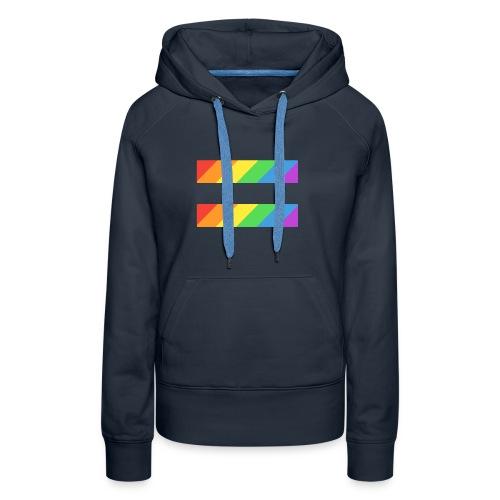 LGBTQ Equality Pride Logo - Women's Premium Hoodie