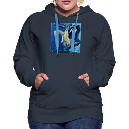 TIAN GREEN Welt Mosaik - AT042 Blue Passion - Frauen Premium Hoodie