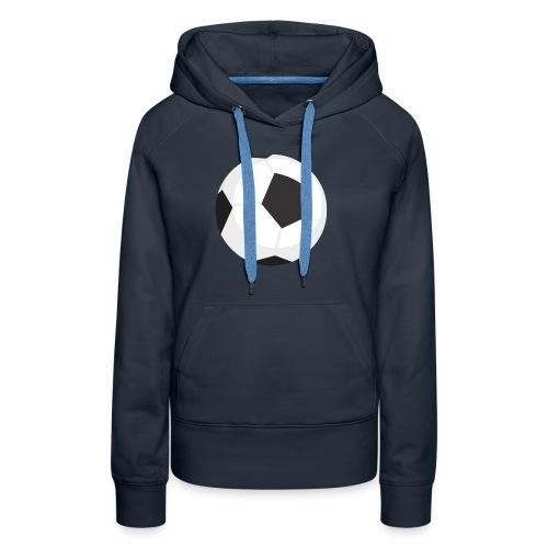 soccer ball - Felpa con cappuccio premium da donna
