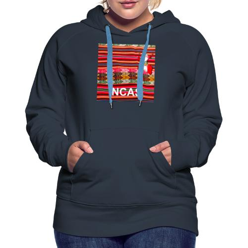 Telar inca Mapa del Peru - Sweat-shirt à capuche Premium pour femmes
