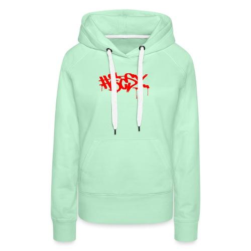 #EASY Graffiti Logo T-Shirt - Felpa con cappuccio premium da donna