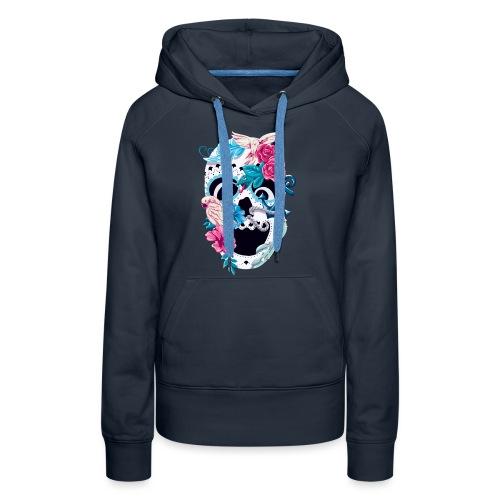Floral Skull - Frauen Premium Hoodie