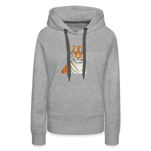 Tigre,Tiger,Wildlife,Natura,Felino - Felpa con cappuccio premium da donna