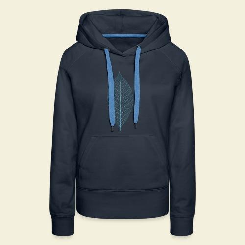 Feuille bleu Squelette - Sweat-shirt à capuche Premium pour femmes