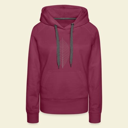 Feuille marron Squelette - Sweat-shirt à capuche Premium pour femmes
