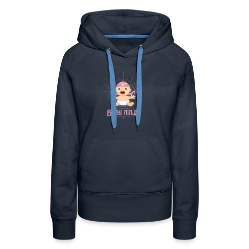 Baby Ninja - Rosa - Frauen Premium Hoodie