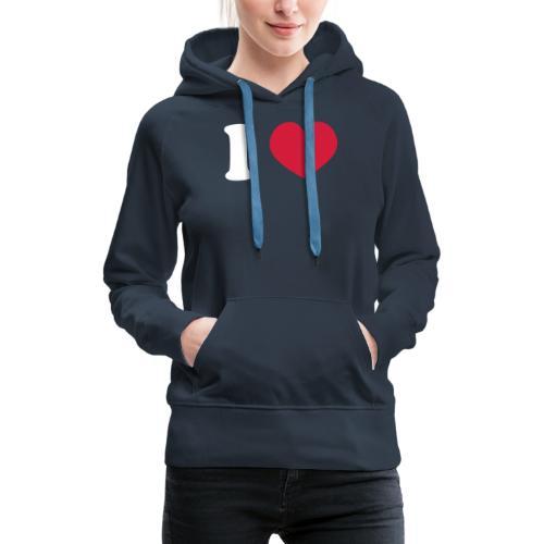 ilovecooperblck - Vrouwen Premium hoodie