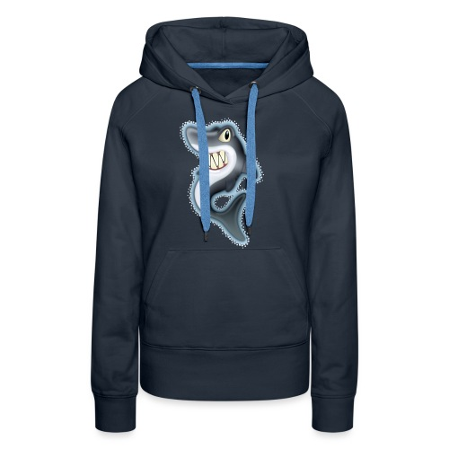 Cartoon Shark - Women's Premium Hoodie