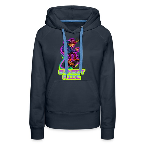 Skateboarding Skater Sunset Ride - Frauen Premium Hoodie