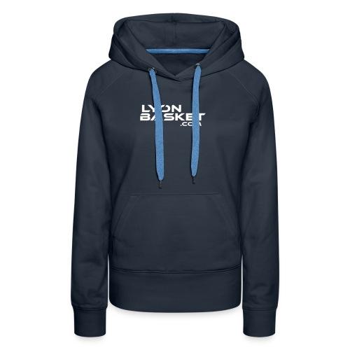 lyonbasketspread - Sweat-shirt à capuche Premium pour femmes