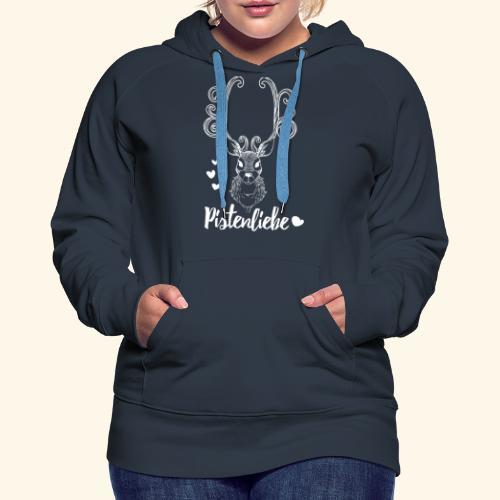 pistenliebe weiß - Frauen Premium Hoodie