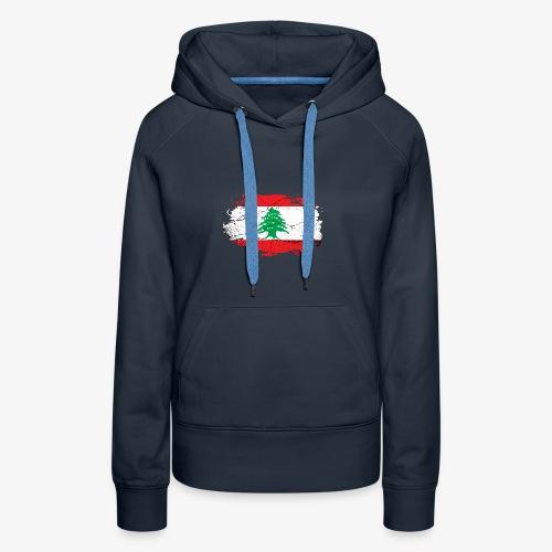 Libanon Libanesische Flagge - Frauen Premium Hoodie