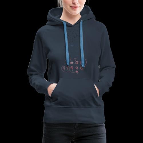 Overscoped concept logos - Women's Premium Hoodie