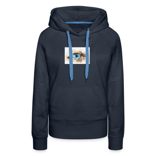 eye-blue-girl-art - Sweat-shirt à capuche Premium pour femmes