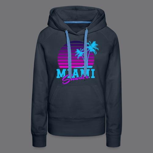 MIAMI SUNRISE t-shirts - Women's Premium Hoodie