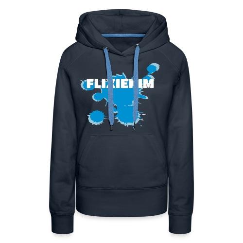Flixiekim Splash, hoodie - Premiumluvtröja dam