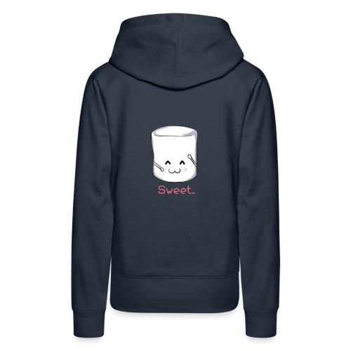 Marshmallow - Felpa con cappuccio premium da donna