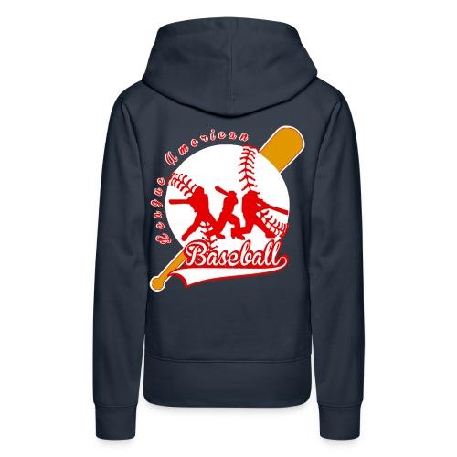 baseball league american - Sweat-shirt à capuche Premium pour femmes