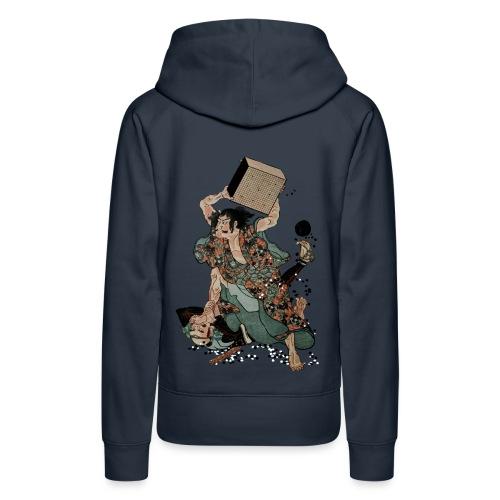Sato Tadanobu with a goban - Vrouwen Premium hoodie