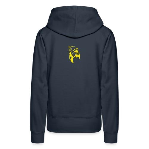 wolf gelb png - Frauen Premium Hoodie