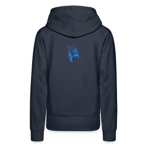 wolf blau png - Frauen Premium Hoodie