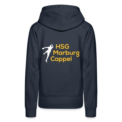 HSG weiß gelb - Frauen Premium Hoodie
