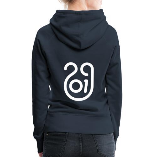 Année du cochon de terre - Sweat-shirt à capuche Premium pour femmes