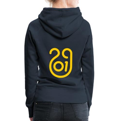 Annee du cochon jaune de terre - Sweat-shirt à capuche Premium pour femmes