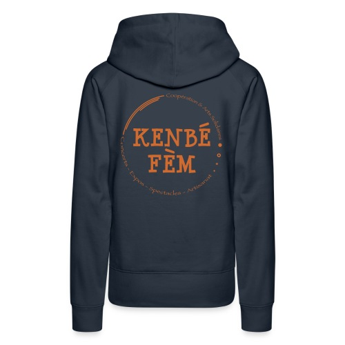 KenbeFem Back Orange png - Sweat-shirt à capuche Premium pour femmes