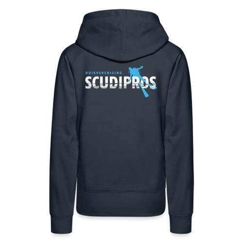 SDP Wit Lichtblauw ZA - Vrouwen Premium hoodie