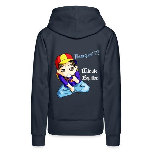 pourquoi - Sweat-shirt à capuche Premium pour femmes
