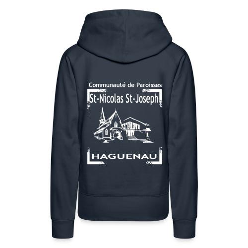 paroisseslogo3_copie - Sweat-shirt à capuche Premium pour femmes