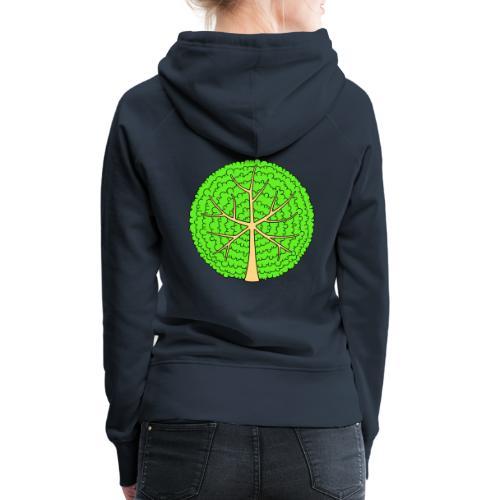Baum, rund, hellgrün - Frauen Premium Hoodie