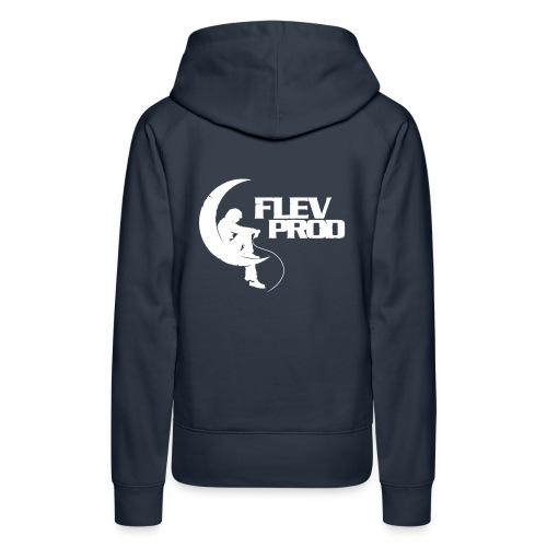 logo officiel flevprodk - Sweat-shirt à capuche Premium pour femmes